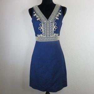 Lilly Pulitzer Gold Embellished A Line Dress
